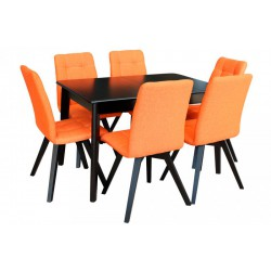Комплект Стол Артур 120+Мягкий стул Ахил (6 шт)