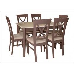 Комплект Стол Артур 120+ Стул ТОМ Х (6 шт)