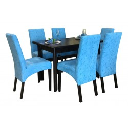 Комплект Стол ТИС-3 + Мягкий стул Родео (6 шт) (под заказ)