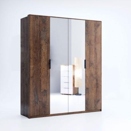 Шкаф 4Д (зеркало) Квадро / Quadro