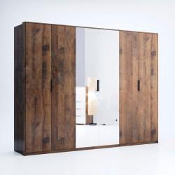 Шкаф 6Д (зеркало) Квадро / Quadro
