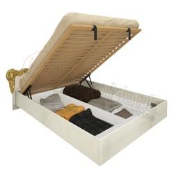 Спальня Виктория радика беж Кровать 1,80*2,00 с подъёмным механизмом мягкая спинка