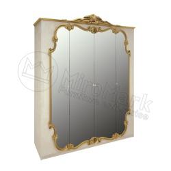 Спальня Виктория радика беж Шкаф 4ДВ с зеркалами