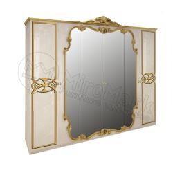 Спальня Виктория радика беж Шкаф 6ДВ с зеркалами