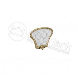 Спальня Ева белый глянец/золото мягкая вставка для кровати 180