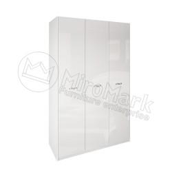 Спальня Империя белый глянец Шкаф платяной 3ДВ  без зеркал