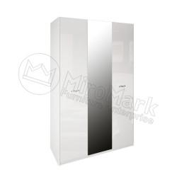 Спальня Империя белый глянец Шкаф платяной 3ДВ с зеркалами