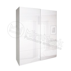 Спальня Империя белый глянец Шкаф-купе 2,5 м