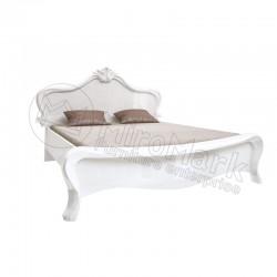 Спальня Прованс белый глянец Кровать 1,60х2,00 без каркаса