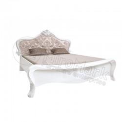 Спальня Прованс белый глянец Кровать 1,60х2,00 мягкая спинка без каркаса