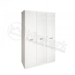 Спальня Прованс белый глянец Шкаф 3Д без зеркал