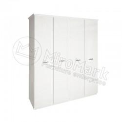 Спальня Прованс белый глянец Шкаф 4Д без зеркал