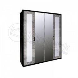 Спальня Виола Шкаф 4 ДВ с зеркалами