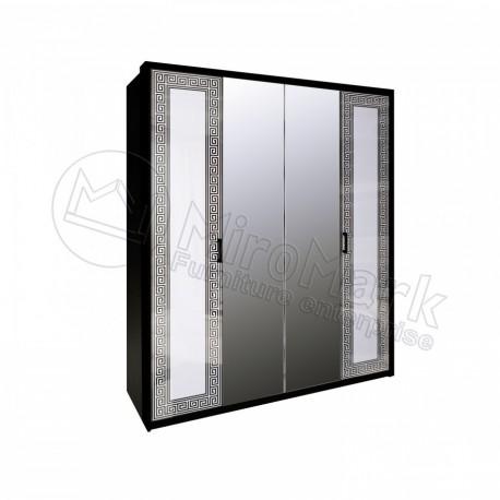 Виола шкаф 4ДВ с зеркалом