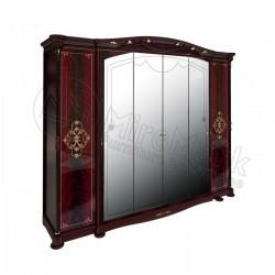 Спальня Роселла Шкаф 6 дверный перо рубино