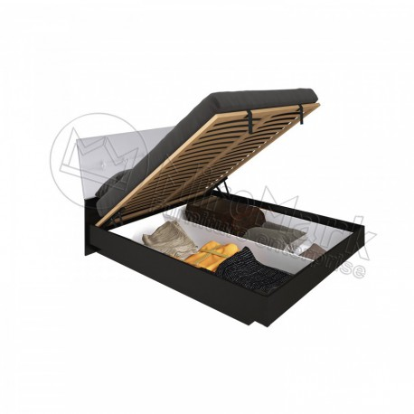 Виола Кровать 1,60 с мягкой спинкой подъемная