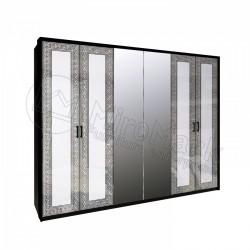 Спальня Виола Шкаф 6Д с зеркалами (без полок)