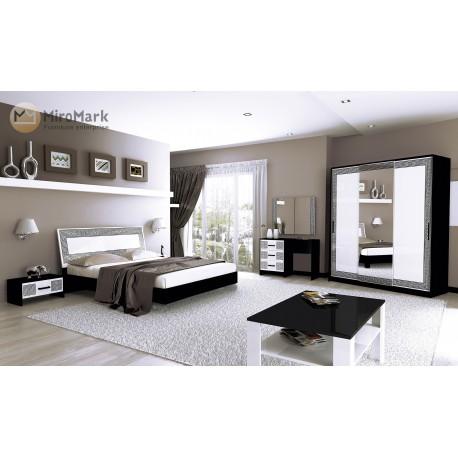 Спальня Виола черно/белая