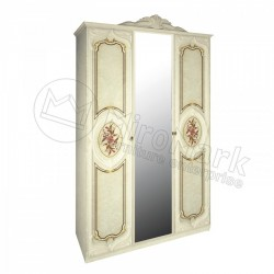 Спальня Реджина радика беж Шкаф 3 ДВ с зеркалом