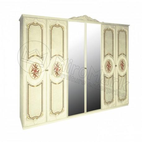 Реджина шкаф 6дв с зеркалами