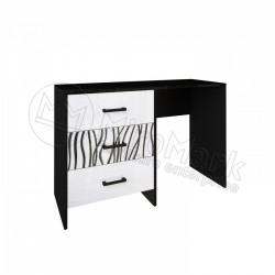 Спальня Терра белый глянец/черный мат Туалетный столик 3Ш