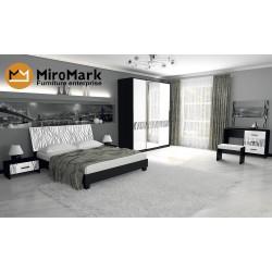 Спальня Терра черно/белая