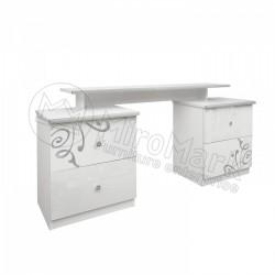Спальня Богема белый глянец Туалетный столик 4Ш