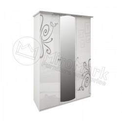 Спальня Богема Шкаф 3 ДВ с зеркалами (без полок)