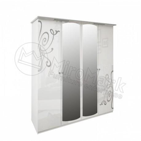 Богема Шкаф 4-х дверный с зеркалами