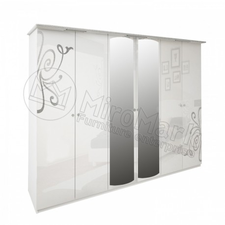 Богема Шкаф 6-ти дверный с зеркалами