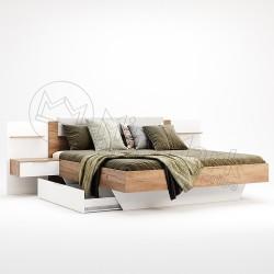 Спальня Asti дуб крафт-глянец белый Щухляда к кровати