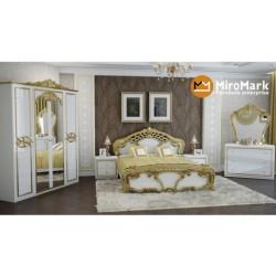 Спальня Ева белый глянец/золото