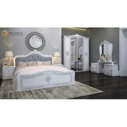 Спальня Луиза белый глянец
