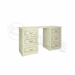 Спальня Реджина радика-беж золото Туалетный стол 6Ш