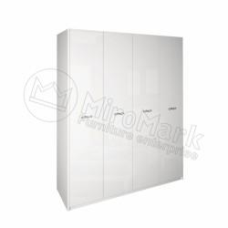 Спальня Империя белый глянец Шкаф платяной 4ДВ  без зеркал