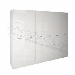 Спальня Империя белый глянец Шкаф платяной 6ДВ без зеркал