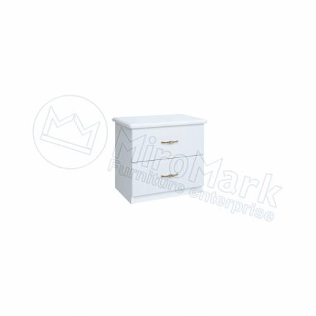 Спальня Футура белый глянец Тумба прикроватная 2Ш