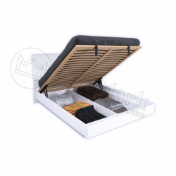 Спальня Рома белый глянец Кровать 1,80*2,00 с подъемным механизмом  мягкая спинка
