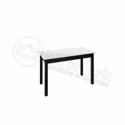 Гостиная Виола Глянец  белый - черный мат Стол обеденный 1,2*0,6