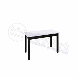 Гостиная Терра Глянец белый - черный мат Стол столовый 1,2*0,6