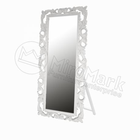 Зеркало с подставкой Lara белое