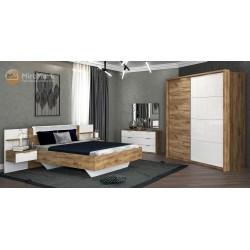 Спальня Asti дуб крафт-глянец белый
